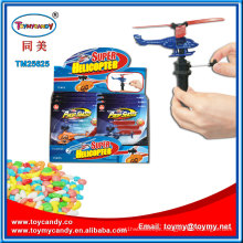 Pushing Super Helicopter Plastic Toy with Candy