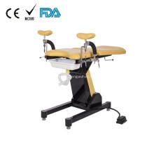 Mesa de examen obstétrico de control de la placa de pie eléctrico