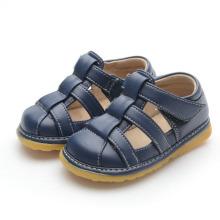 Solid Navy Baby Boy Soft Sandals L132