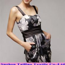 Tela de poliéster de satén de impresión digital para el vestido