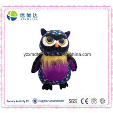 Star Pattern Cute Plush Big Eyes Owl Soft Toy