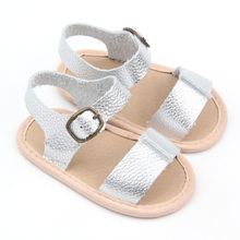 2018 Soft Leather Slit Summer Sandals Baby Shoes