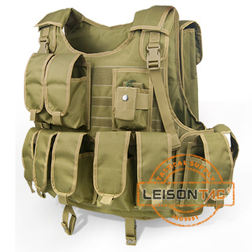 Camouflage Military Bulletproof Vest with Pouches Passed USA HP Lab Test