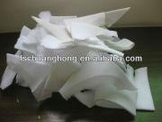 PURE WHITE bra foam scrap
