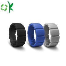 Cool Unique Silicone Men Anel Moda Tread Rings