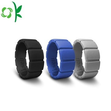 Cool Unique Silicone Men Ring Fashion Runda Ringar
