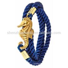 Pulseras náuticas al por mayor de la cuerda de la joyería de la pulsera del ancla del acero inoxidable de la manera para las mujeres
