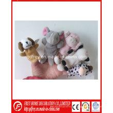 Juguete caliente de la marioneta del dedo del conejo de la felpa de la venta con CE