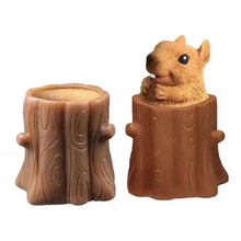 wholesale funny squeeze stress relief toy decompression evil squirrel cup fun fidget sensory toys
