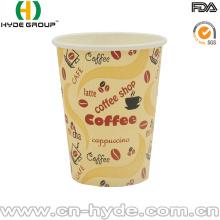 Tasse jetable de papier de café potable 8oz avec le couvercle