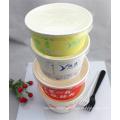 Runder Lebensmittelpapier-Nahrungsmittelbehälter des Lebensmittel-1000ml hergestellt in China