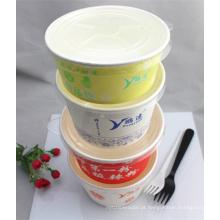 Recipiente de alimento redondo do papel do produto comestível 1000ml feito em China