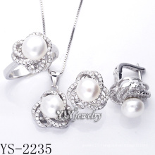 Fashion Jewelry Cultured Pearl Set 925 Silver (YS-2235)