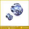 2016 New Arrival UV Acrylic Camouflage Printed Saddle Double Flare Ear Plug Tunnel
