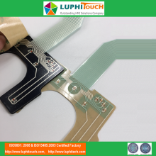 ไฟหน้าจอ LGF Backlighting ขนาด 0.5mm Pitch ZIF Connector Membrane Switch