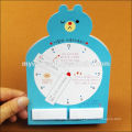 cute mini writing sticky note pad in different shape