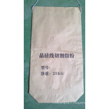 Sac en papier Kraft biodégradable pour poudre avec corde
