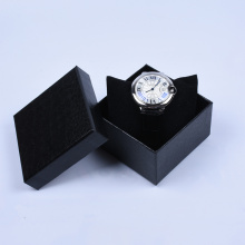 Leatherette Paper Watch Box Glod Stämpling
