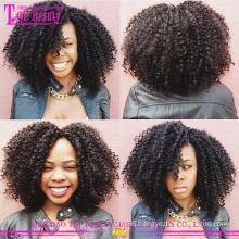 Wholesale cheap afro kinky curly human hair full lace wigs virgin mongolian human hair afro wig for black women