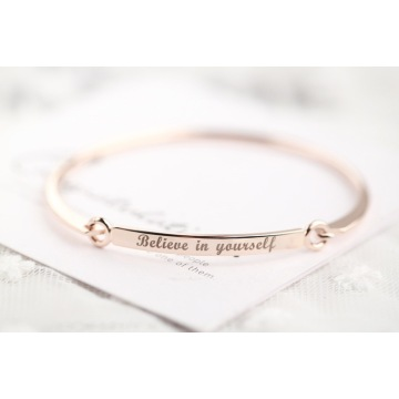 factory customized for Letter Engraved Stainless Steel Bangle Fashion Stainless Steel Bangle Inspire Bangle Womens Bangle supply to United States Factories