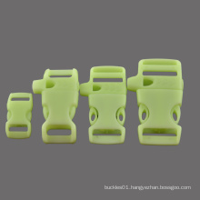 """Glow in dark plastic Whistle paracord buckle with selection of 3/4"""",5/8"""",1/2"""",3/8"""" for backpack bracelet"""