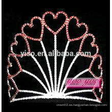 Tiara del festival de la tarjeta del día de San Valentín de la princesa