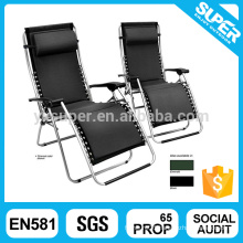 Luxury Sun lounger Outdoor recliner with pillow