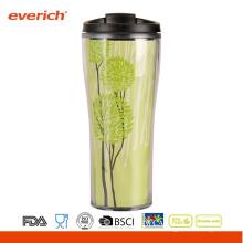 Everich 16oz doppelwandig isolierte kundenspezifische Kaffeetasse