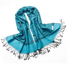Elegante bufanda de primavera Jacquard Paisley impreso bufanda Echarp pashmina chales de gran tamaño