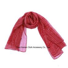 Frühlingsart und weise Polyester gedruckter Schal Großverkauf