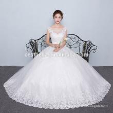 Nuevas llegadas 2016 vestido de bola diseñadores Sweetheart encaje Appliqued Tulle vestido de boda baratos