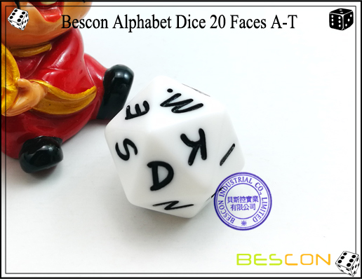 Bescon Alphabet Dice 20 Faces A-T-4
