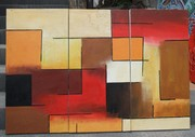 hand painted abstract oil painting