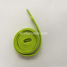 Flat Silk Screen Dicetak Polyester Shoelace