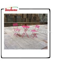 bistro plegable de acero del jardín conjunto muebles de malla de acero plegable mesa y silla