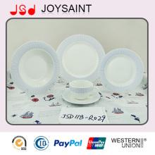 Promoción al por mayor del sistema de la cena de la etiqueta de la porcelana para el hotel