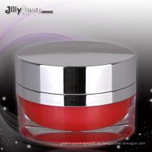 2015 meistverkaufte ovale Acryl-Kosmetik-Glas