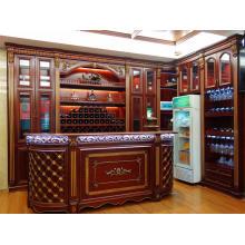 Rack de vinho de madeira grande marrom marrom (O2)