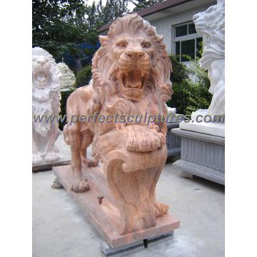 Carving Stone Marble Lion Statue Animal pour sculpture sur jardin (SY-D055)