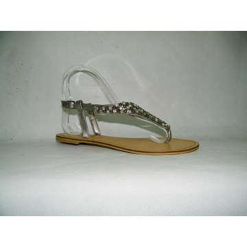 Neue Stil Damen flache Sandalen (HCY03-095)