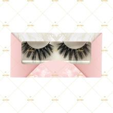 Luxury Pink Marble Reusable Eyelash Packaging Box For Popular 3D Vegan Mink 0.05mm PBT Fiber Silk Lashes Factory Free Samples  L