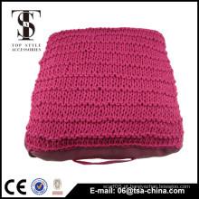 Plain cor 100% algodão tricô almofada almofada decorativa do assoalho