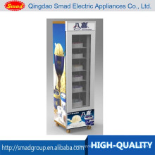 Cold Drink Freezer Ice Cream Freezer Vertical Freezer Glass Door