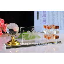 Crystal Pen Holder pour ensemble de papeterie Crystal Office