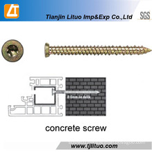 China Manufacturer Yellow Zinc Concrete Screws