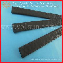 Tube thermorétractable noir pour poteau de badminton