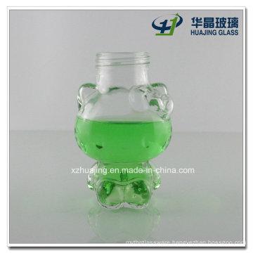 100ml Clear Empty Lovely Kitty Shape Glass Candy Jar