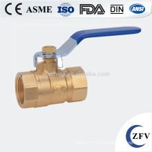ZFV-BV-15 ~ 50 pouces 2 fileté en laiton robinet à boisseau sphérique