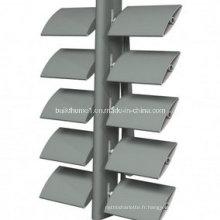 Ombre solaire en aluminium réglable à l'architecture