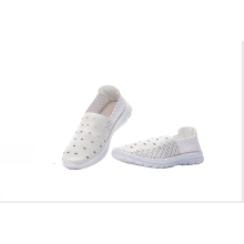White Women's Woven Microfiber Shoes